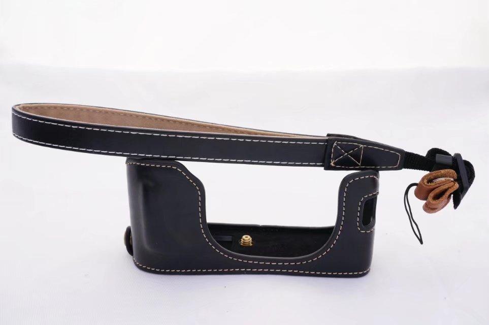 Vintage Pu Leather Camera Case For Fujifilm X100F Fuji X100F Camera bag Half Case Bottom Cover Open Battery Design