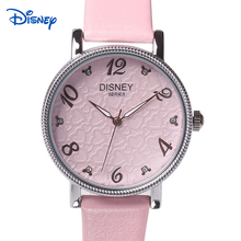 Famous Brand 100 Genuine DISNEY Watch Women Cute Style Stainless Steel Case Leather Strap Female Wrist