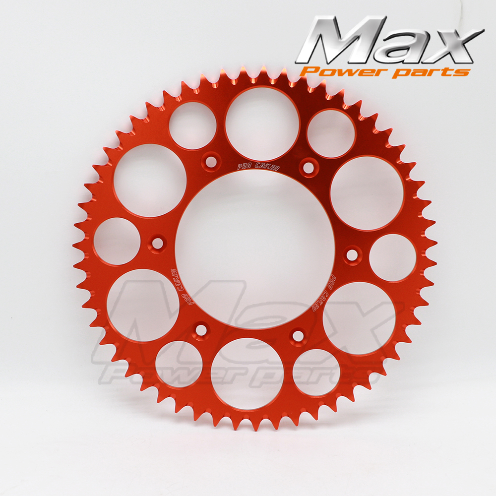 Motorcycle 55T CNC Rear Sprocket Fit for 55T KLX KTM CRF KXF 4-stroke 250 Off Road Motocross Racing Dirt Bike CNC Motorcycle 428h chain rear sprocket 37 tooth 58mm diameter for crf50 xr50 dirt pit bike motorcycle motocross 428 gear fit 10inch rear wheel