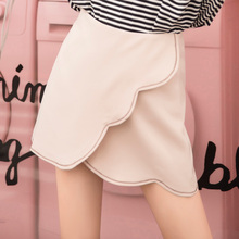 Model shot! The fall of new high waist skirt embroidery all-match slim A-line  skirt female A