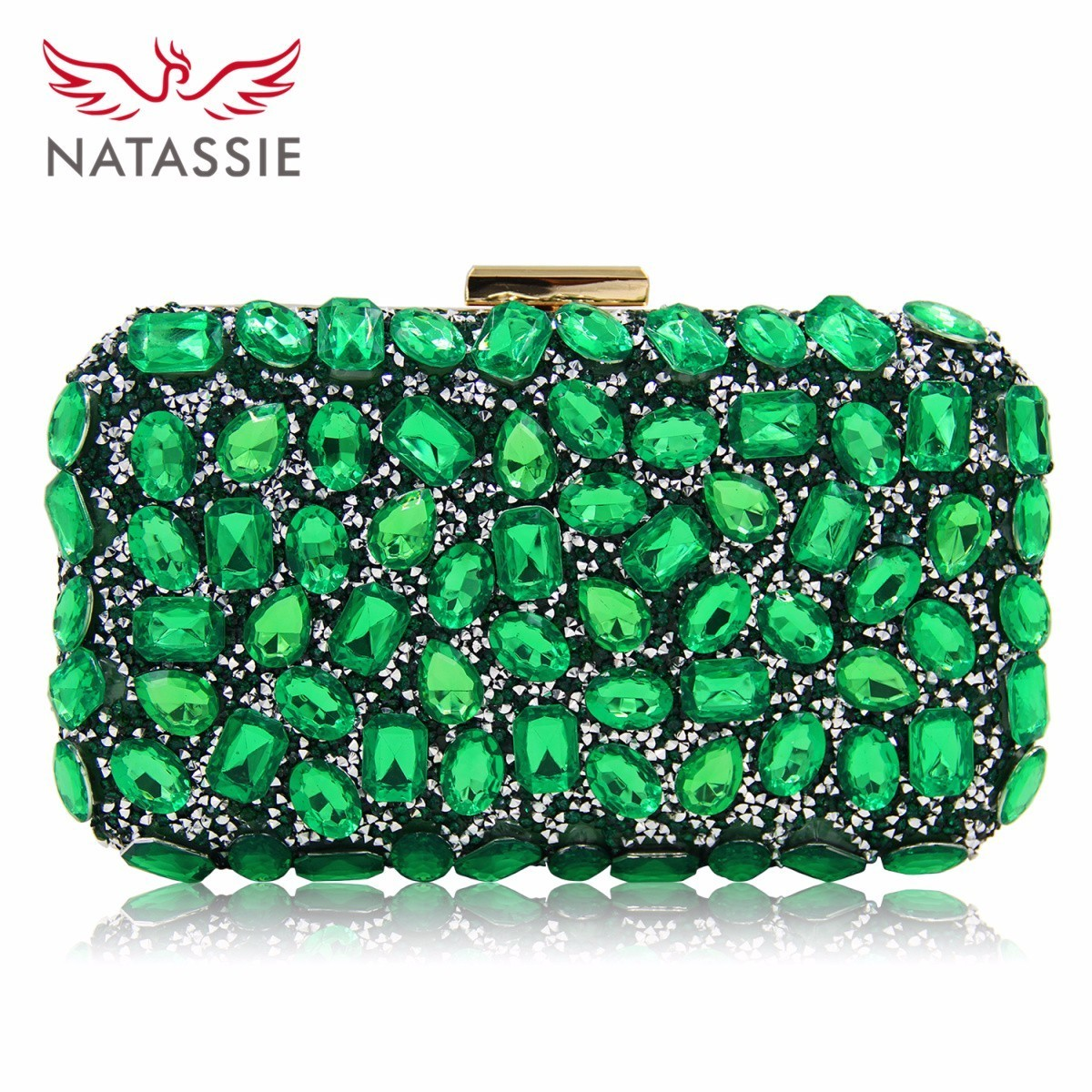 Natassie Women Clutch Purses Gold Clutches Bags Blue Evening Bag Party Silver Wedding Clutch