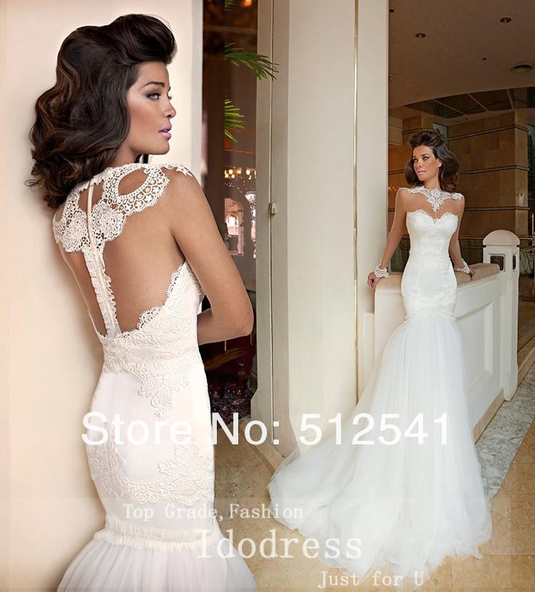 9793a3b602 Elegant Sheer Scoop Trumpet Mermaid Wedding Dresses Transparent Long Sleeves  Applique Organza Bridal Gown yk8R847