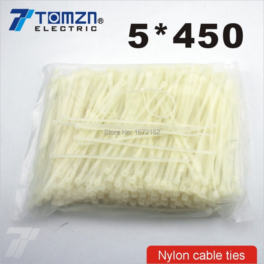 250pcs 5mm*450mm Nylon Cable Ties