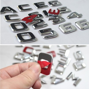 Image 5 - 플랫 크롬 W212 W213 자동차 엠블럼 E200 E250 E300 E320 E350 편지 배지 자동 4MATIC 로고 Emblema De Carro For Mercedes Benz AMG