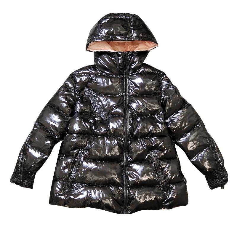 Coréen Black Mode À Hiver Parkas Gx1465 Nouvelle Court Marque Femme 2018 Style Décontracté Puterwear Manteaux Sustans Manches Capuche Longues Uxdgn