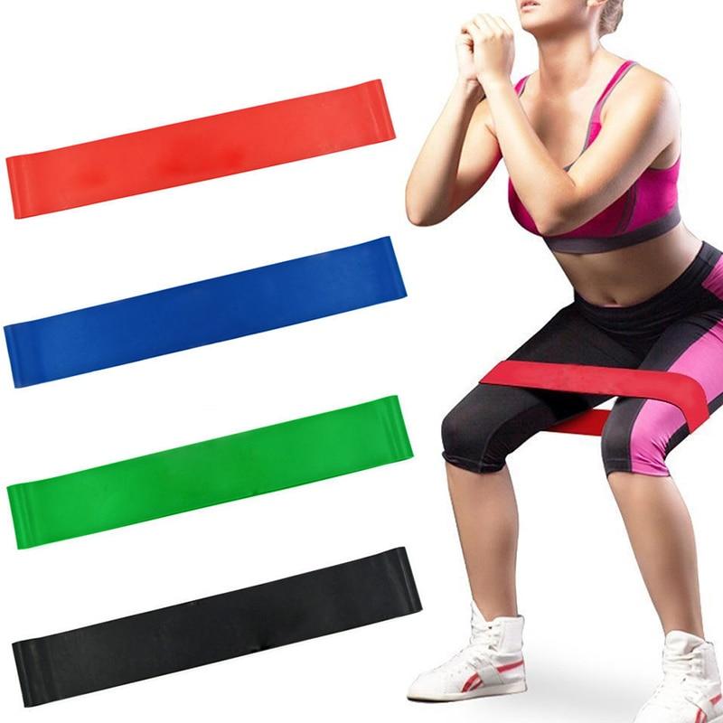 Kauçuk döngü sıkılaştırma bandı güç eğitim genişletici kadın Yoga spor elastik direnç bantları gücü spor çekme halatı uyluk usta