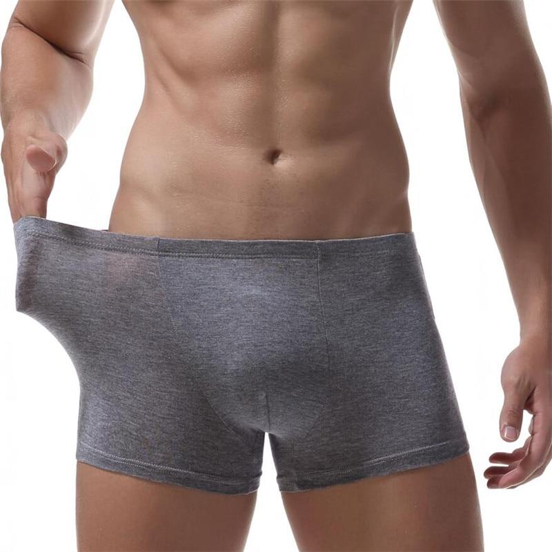 Buy 2018 Ropa Interior Hombre Brand Solid Classic Cotton Mens Underwear Boxer Sexy Men Crotchless Cuecas Masculina De Marca
