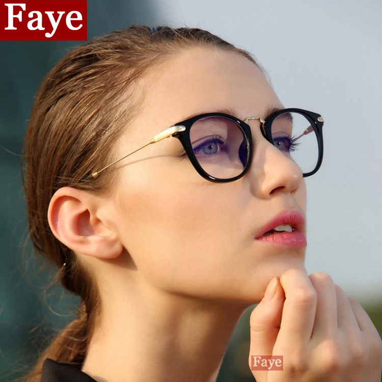 0b49f96ff84 2016 vintage fashion eyeglasses college style women men metal legs plain  glasses retro female Eyewear Frames oculos de grau S342-in Eyewear Frames  from ...