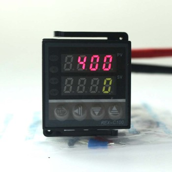 AC 220V SSR Output Dual Digital Thermostat REX-C100 Universal PID Temperature Controller 100V~240V AC with Thermocouple K number