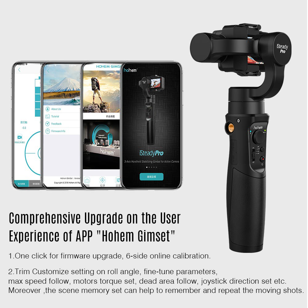US $89 0  Hohem iSteady Pro 3 Axis Handheld Stabilizing Gimbal with Phone  Holder Bracket for GoPro Hero 6/5/4/3 for Sony RX0 for SJCAM YI-in Handheld