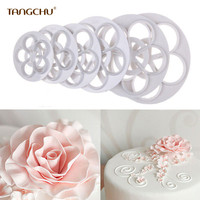 TANGCHU New ABS Plastic Chinese Supplier Making Biscuits Cake Tools And Flower Cookie Cutters Baking Kit