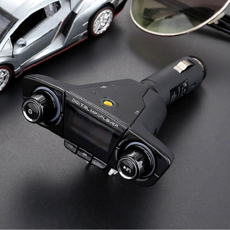 Image 4 - Автомобильный fm передатчик Aux модулятор Bluetooth Handsfree автомобильный комплект MP3 плеер автомобильный прикуриватель дисплей напряжения двойное зарядное устройство usb-in FM-трансмиттеры from Автомобили и мотоциклы