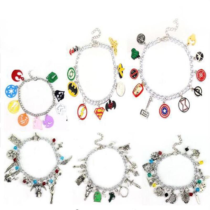 Avengers Charm Bracelet Doctor Who Horcrux Walking Dead Bangle Star Wars Supernatural Legend of Zelda Game of Thrones Bracelet