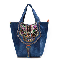 2017 handtassen vrouwen tassen designer merk beroemde ontwerp dames denim schoudertas vrouwelijke Desigues spanje messenger bags sac