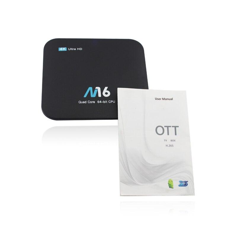 M16 Android 7.1 Amlogic s905x Коди 17.4 Android Умные телевизоры коробка 1 ГБ + 8 ГБ/2 ГБ + 8 ГБ/2 ГБ + 16 ГБ 4 К WI-FI LAN vp9 H.265 HDMI 2.0 Mini PC