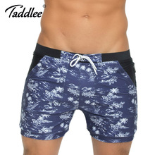Taddlee Brand Men Swimwear Swimsuits Beach Board Surfing Shorts Plus Big Size Traditional XXL Basic Swim Boxer Trunks Bath Suits