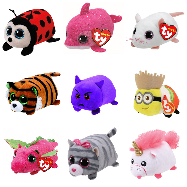 2018 TY Beanie Boo teeny tys Plush - Icy the Seal 9cm Ty Beanie Boos Big  Eyes Plush Toy Doll Purple Panda Baby Kids Gift 3ae7a1cda66