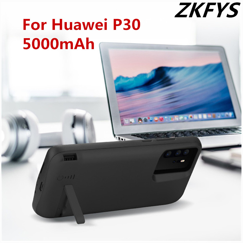 ZKFYS 5000mAh Power Box Backup Back Clip Fast Battery Charging Case For Huawei P30 Ultra Thin Charger Cover