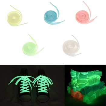 HBB 1 Pair 120cm Fashion Sport Luminous Shoelace Toys Shoe Accessories Glow In The Dark Shoelace Night Running Gift Kids Toys image