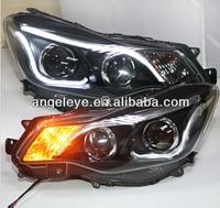 2012 2014 Year For Subaru XV LED Head Light with Bi Xenon Projector Lens Black Housing TLZ