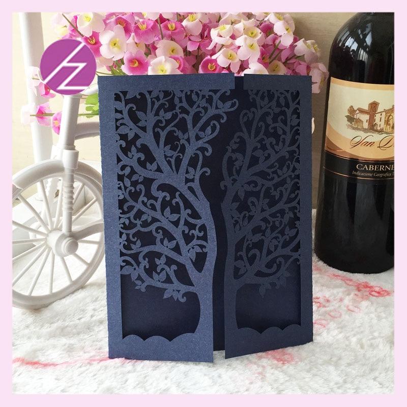Dark Blue Wedding Invitations: Hot Sale Customized Dark Blue And Dark Greeen Wedding
