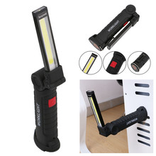 Foldable Flexible Hand Torch Work Light Magnetic Inspection Lamp Flashlight Torch Built in Battery USB Charging Port