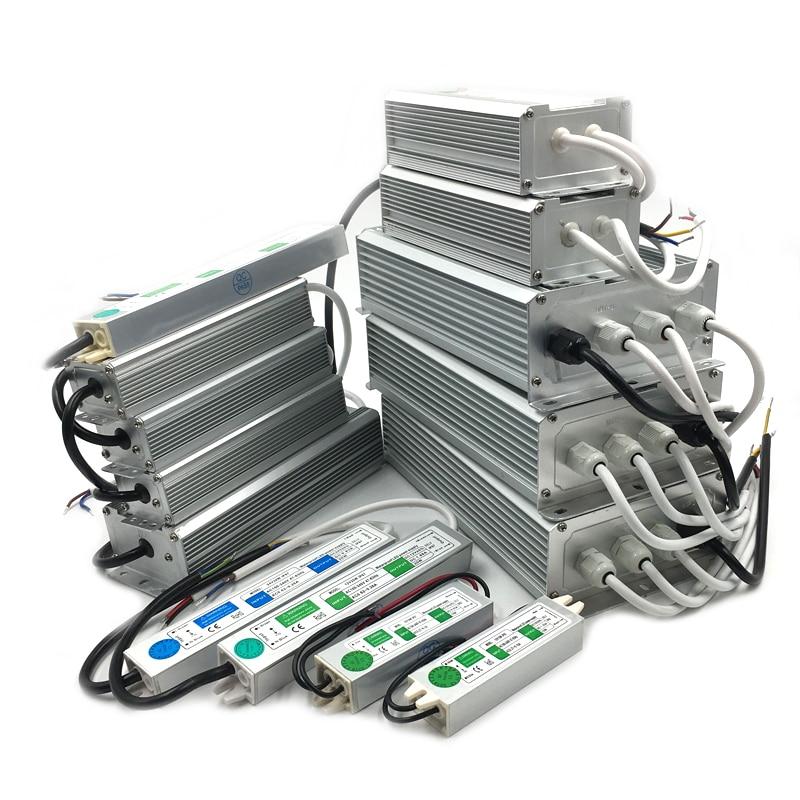 AC 110V-220V To DC 12V Power Supply 10W 20W 30W 50W 80W IP67 Outdoor Waterproof 12 24 V Volt Transformer Electronic Led Driver