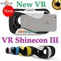 """Vr shinecon iii smartphone do filme em 3d de realidade virtual 3d óculos capacete vr 3d google papelão 4.7-6 """"Telefone inteligente de Vídeo de Vidro"""
