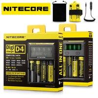Hot Nitecore D4 D2 New I4 I2 Battery Charger LCD Intelligent Charger Li Ion 18650 14500