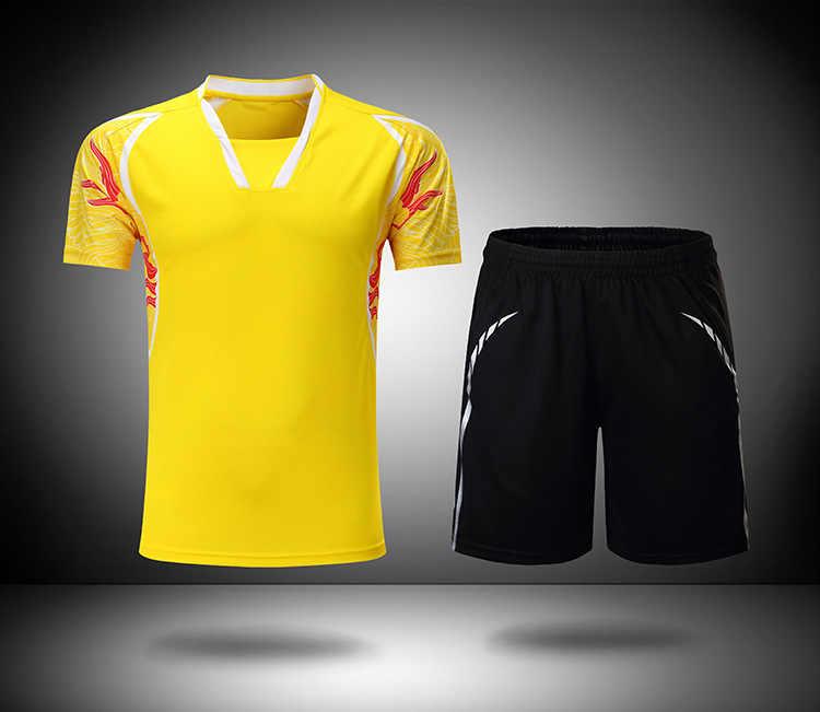 couple badminton Pingpang short sleeved suit men women table tennis Jersey training suit Sportswear tracksuit jersey & shorts