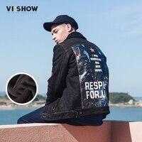 VIISHOW Winter Influx Of Men Casual Denim Jacket Winter Thick Denim Jacket Retro Jacket Nagymaros Collar