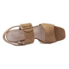 Woman fashion Thick high heels Gladiator sandals