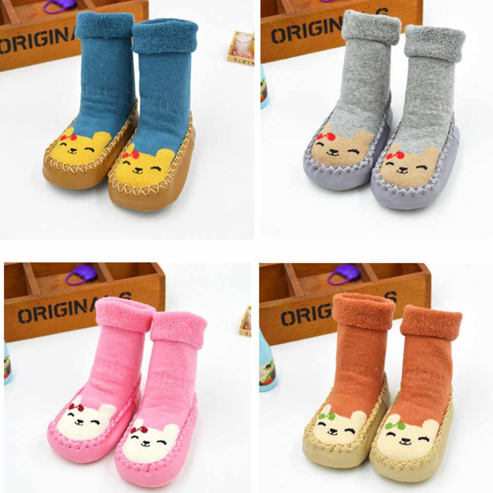 Colores niño recién nacido Bebé Zapatos algodón dibujos animados bebé recién nacido niña zapatos antideslizantes calcetines zapatillas Botas nuevo 2019