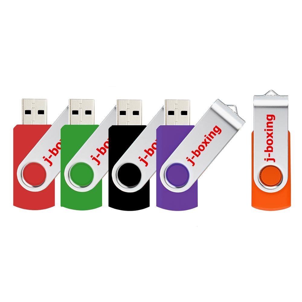 Image 5 - J boxing USB Flash Drives Thumb Drive Metal Swivel Pendrives 1GB 2GB 4GB 8 GB 16 GB 32 GB Multicolor for PC Mac Tablet 5PCS/Pack-in USB Flash Drives from Computer & Office