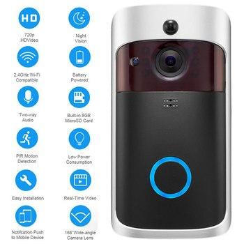 WiFi Doorbell Smart IP Video Intercom Call Camera Door Bell App Control Smart Home Apartment IR Alarm Wireless Security Camera
