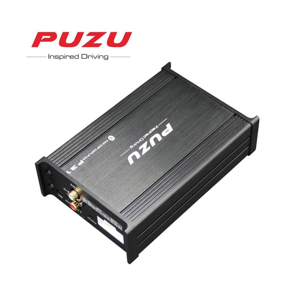 PUZU P31 não-destrutivo cabo ISO Carro Processador de sinal Amplificador 4X85 W suporte computer31 de sintonia Banda android aplicativo carro de áudio DSP