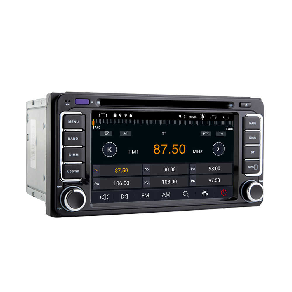 2 din Car Radio GPS Android 9,0 reproductor de DVD del coche para Toyota Avensis Land Cruiser 100 200 Prado 120 de 150 rush Corolla Yaris Hilux