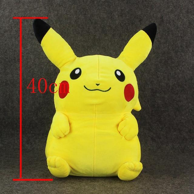 """1 unids 16 """"Pikachu de la Felpa de 40 cm de Alta calidad Mochila Bolsa de Juguetes de Peluche DollsFor Kid Gran Regalo"""