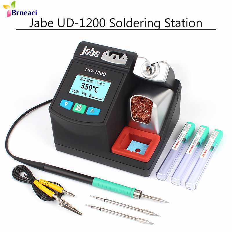 Jabe Precision Lead Free Soldering Station UD-1200 2.5S Heats Up Quickly Smart Temperature Solder Iron Tip Dual Channel Heating