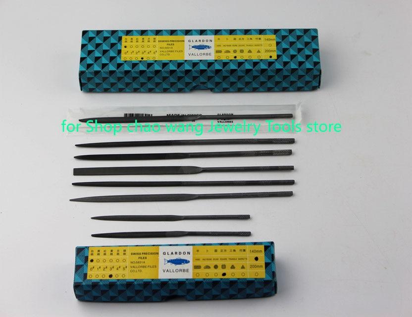 Vallorbe Glardon Precision Files Steel Needle Files Manufacture In China 6pcs 140mm/200mm