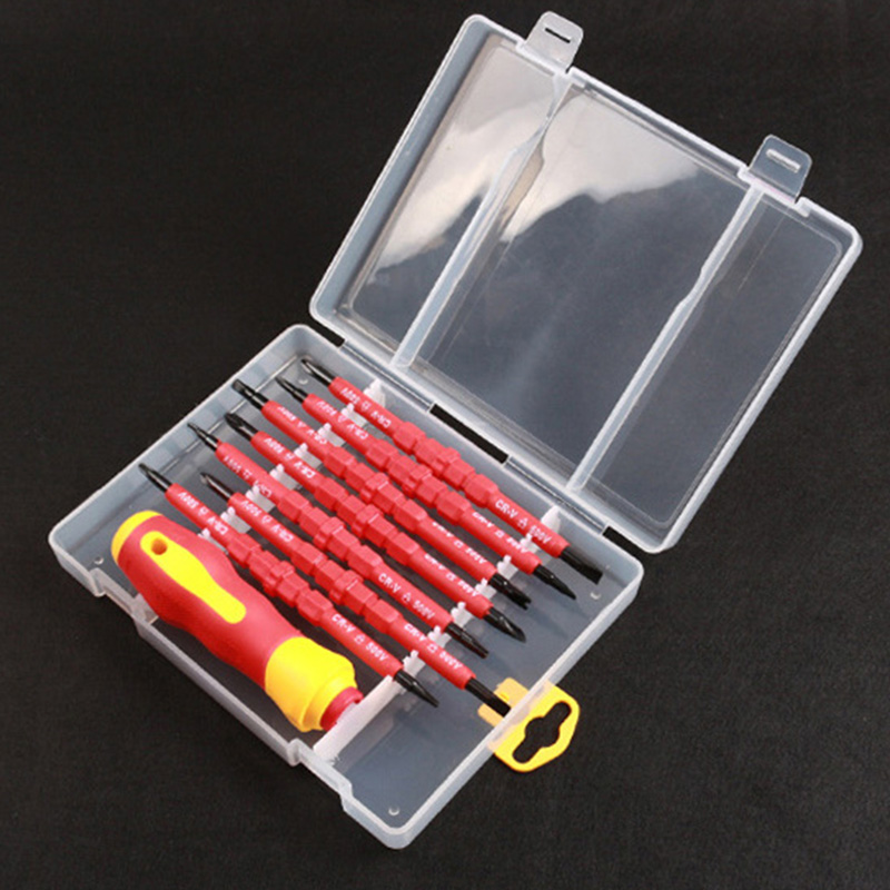 Electricians Screwdriver Hand Tool Set Electrical Fully Insulated High Voltage Multi Screw Head Type