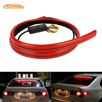 цена на Carcardo Car LED Additional Brake Light Strip Rear Tail Warning Light Car Third Brake Light High Mount Stop Lamp