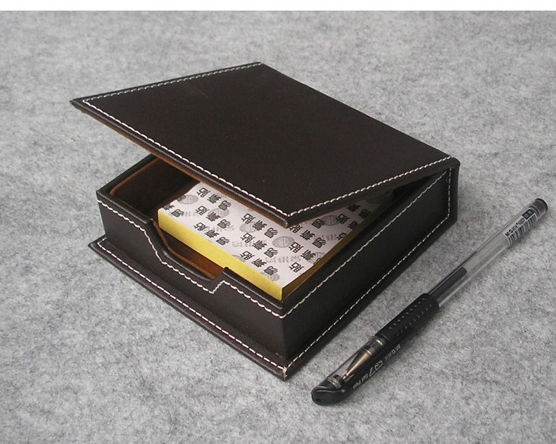 casual note paper labels holder case with lid box organizer office desk desktop stationery organization brown 312B ...