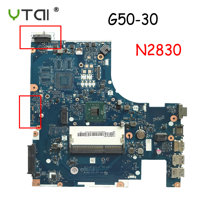 ACLU9/ACLU0 NM-A311  For Lenovo G50 G50-30 Motherboard g50 30 Laptop motherboard DDR3 CPU:N2820 N2830 100% tested intactACLU9/ACLU0 NM-A311  For Lenovo G50 G50-30 Motherboard g50 30 Laptop motherboard DDR3 CPU:N2820 N2830 100% tested intact