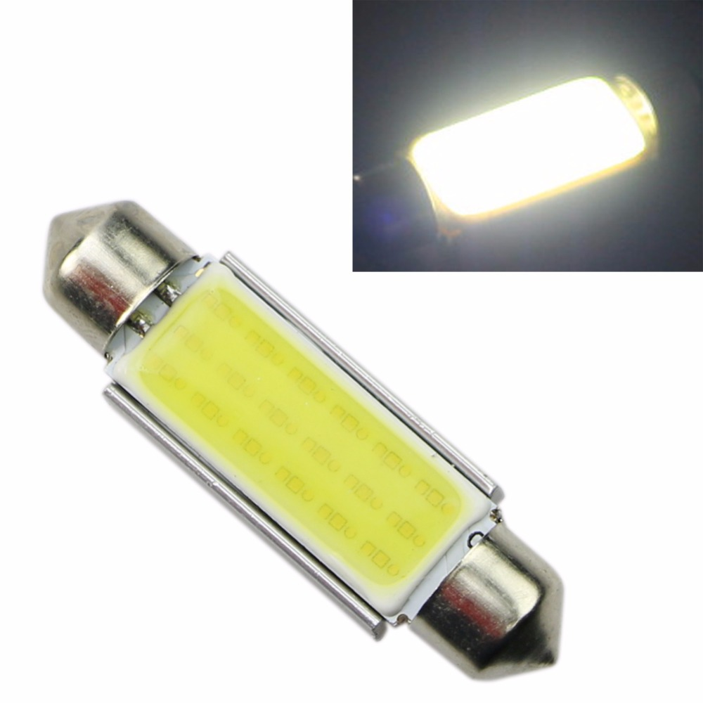 1x 42mm WHITE Festoon CANBUS PLASMA COB 18LED interior SMD bulbs 12V