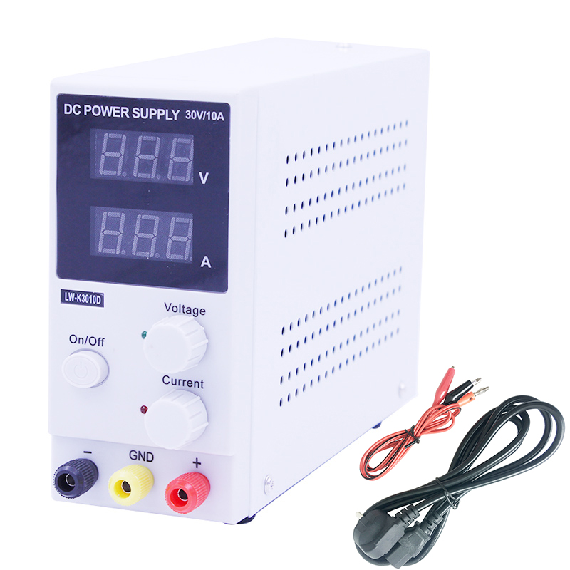 High precision 30V 10A LW K3010D Switching Regulated DC Power Supply LCD Dual LED digital Display
