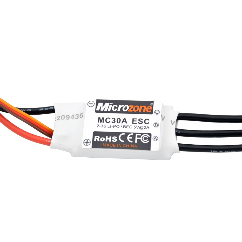 Microzone MC 2-3S 30A Brushless ESC With 5V//2A BEC For RC Model
