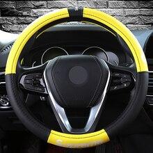 KKYSYELVA рулевого колеса автомобиля крышки 38 см Мода колесо обложки для женщин женские кожаные руль авто аксессуары для интерьера