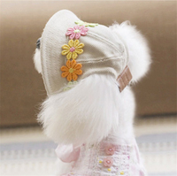 Kawaii Pets Store Japanese Style Dog Caps Hats Adjustable Head Circumference For Small Large Pets Cats