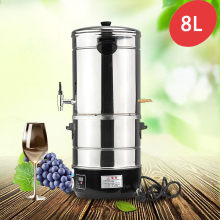 8L Multi-functional DIY Home Distiller Moonshine Alcohol Stainless Water Wine Essential Oil Brewing Kit Winemaking Machine 220V(China)